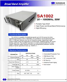 SA1002 catalogue image